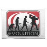 Fútbol de la evolución manteles