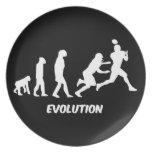fútbol de la evolución platos de comidas