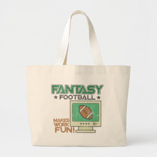 Fútbol de la fantasía bolsas lienzo