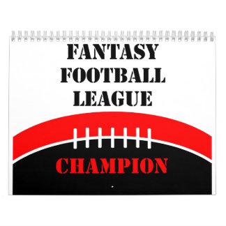 Fútbol de la fantasía calendario