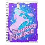 Fútbol de la fantasía cuaderno