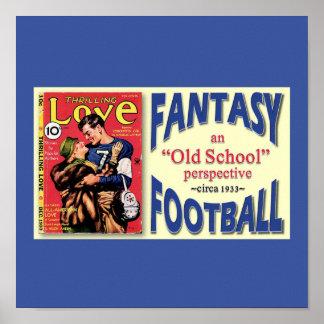 Fútbol de la fantasía de la escuela vieja posters