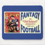 Fútbol de la fantasía de la escuela vieja alfombrilla de ratones