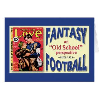 Fútbol de la fantasía de la escuela vieja tarjetón