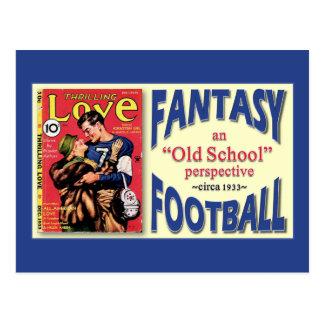Fútbol de la fantasía de la escuela vieja postal