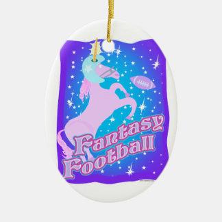 Fútbol de la fantasía ornamento para arbol de navidad