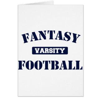 Fútbol de la fantasía del equipo universitario felicitacion