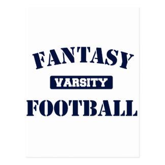 Fútbol de la fantasía del equipo universitario postal