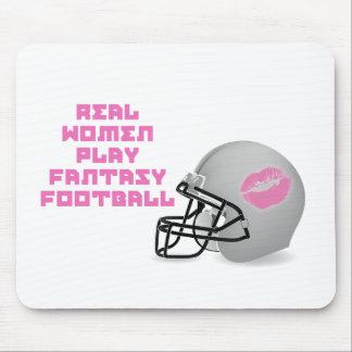 Fútbol de la fantasía del juego de las mujeres rea tapete de ratón
