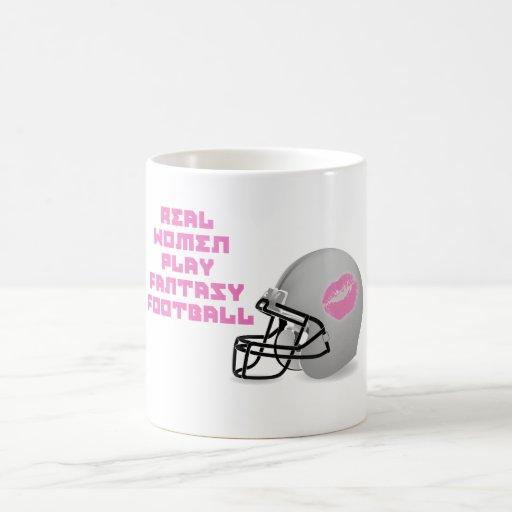 Fútbol de la fantasía del juego de las mujeres rea taza