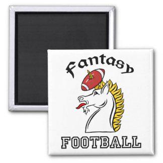 Fútbol de la fantasía imán cuadrado