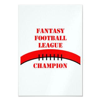"""Fútbol de la fantasía invitación 3.5"""" x 5"""""""