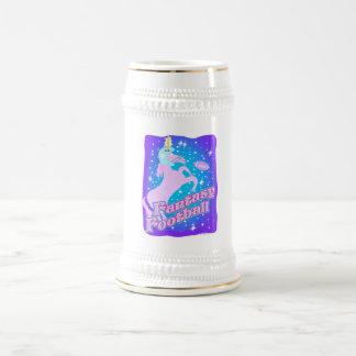 Fútbol de la fantasía jarra de cerveza
