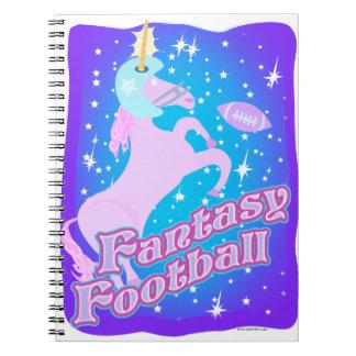 Fútbol de la fantasía libretas espirales