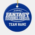 Fútbol de la fantasía - regalo divertido de los adorno redondo de cerámica