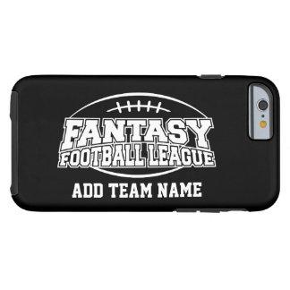 Fútbol de la fantasía - su logotipo del equipo funda de iPhone 6 tough
