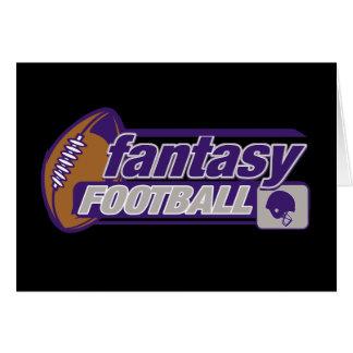 Fútbol de la fantasía tarjeta