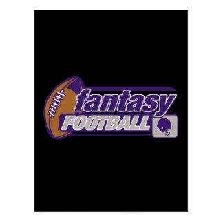 Fútbol de la fantasía tarjeta postal