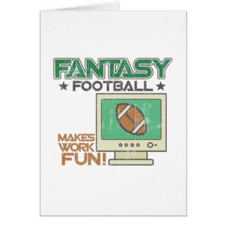 Fútbol de la fantasía tarjetas