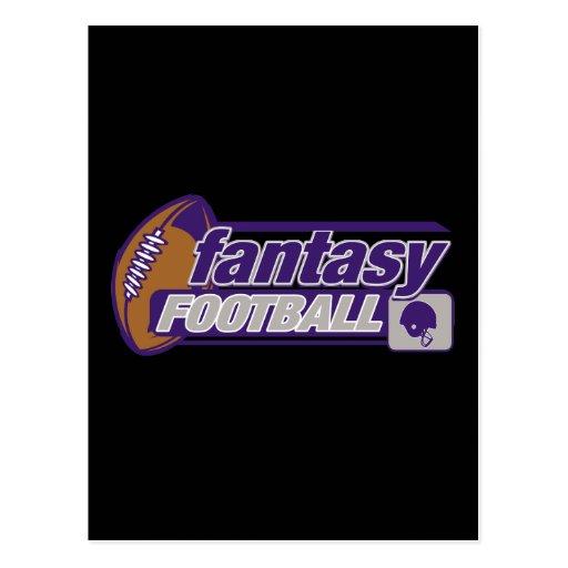 Fútbol de la fantasía tarjetas postales