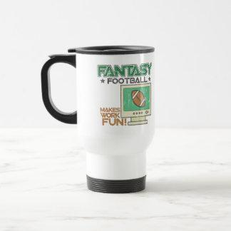 Fútbol de la fantasía taza térmica