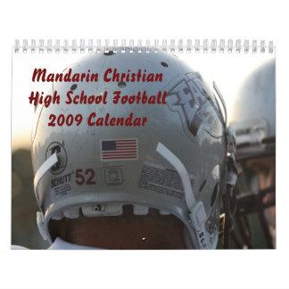 Fútbol de la High School secundaria del calendario