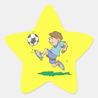 Fútbol de la juventud calcomania forma de estrella personalizada