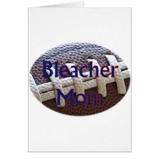 Fútbol de la mamá del blanqueador tarjeta de felicitación