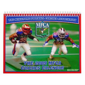 Fútbol de la miniatura de MFCA 2009 Calendarios