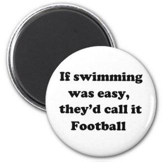 Fútbol de la natación imán redondo 5 cm