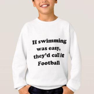 Fútbol de la natación sudadera