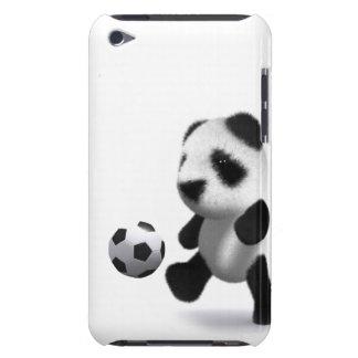 fútbol de la panda del bebé 3d barely there iPod carcasa