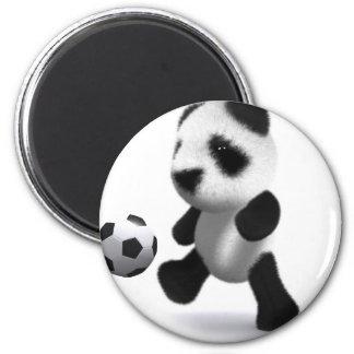fútbol de la panda del bebé 3d iman de nevera