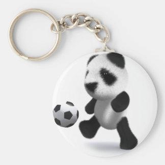 fútbol de la panda del bebé 3d llavero