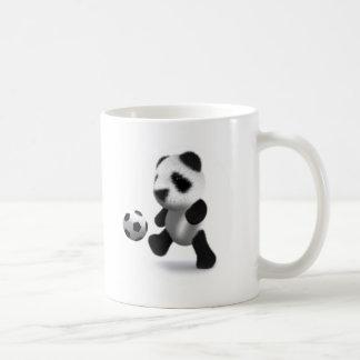 fútbol de la panda del bebé 3d taza