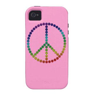 Fútbol de la paz iPhone 4/4S carcasa