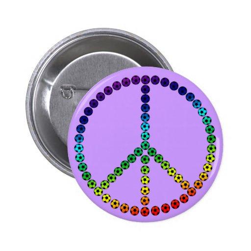 Fútbol de la paz pin