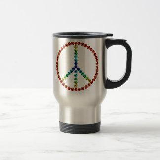 Fútbol de la paz taza térmica
