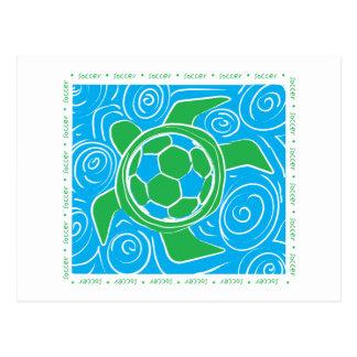 Fútbol de la playa de la tortuga postal