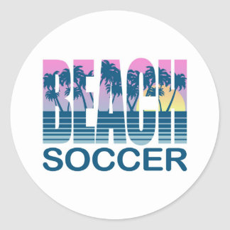 Fútbol de la playa pegatina redonda