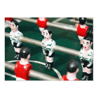 """Fútbol de la tabla invitación 5"""" x 7"""""""