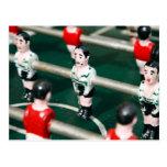 Fútbol de la tabla tarjeta postal