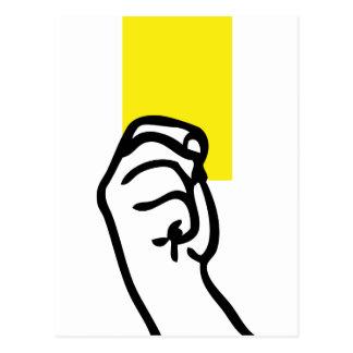 Fútbol de la tarjeta amarilla postales