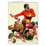 Fútbol de la universidad tarjeta