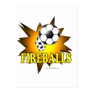Fútbol de las bolas de fuego postal