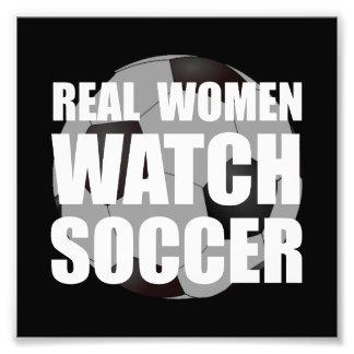 Fútbol de las mujeres reales fotografía