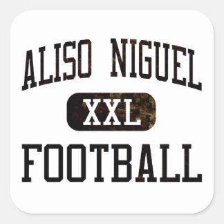 Fútbol de los carcayúes de Aliso Viejo Pegatina Cuadrada