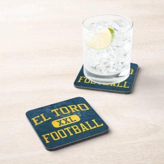 Fútbol de los cargadores del EL Toro Posavasos De Bebidas
