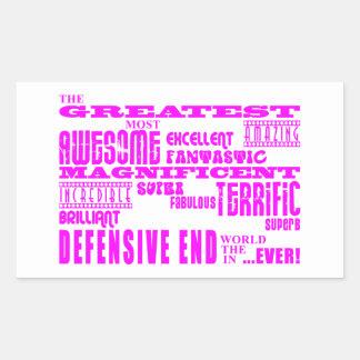Fútbol de los chicas: Extremo defensivo más grande Rectangular Pegatina