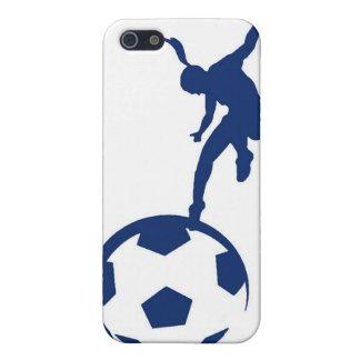 Fútbol de los chicas iPhone 5 carcasa